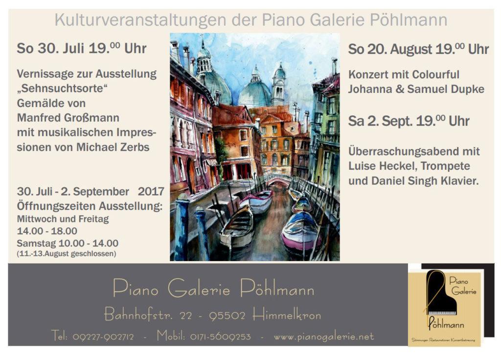 Maler Bayreuth sehnsuchtsorte vernissage mit dem maler manfred großmann und