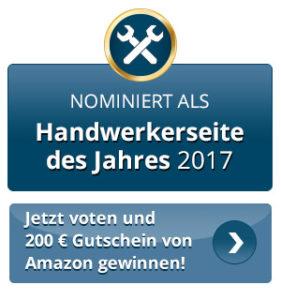 Nominiert als Handwerkerseite des Jahres 2017