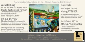 """""""Sommerkunstwochen"""" mit Ausstellung und Konzerten"""