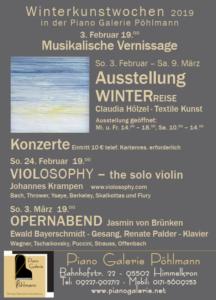 Winterkunstwochen 2019 Piano Galerie Pöhlmann